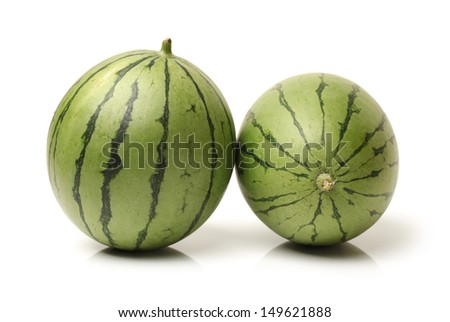 Watermelon on a white background  - stock photo