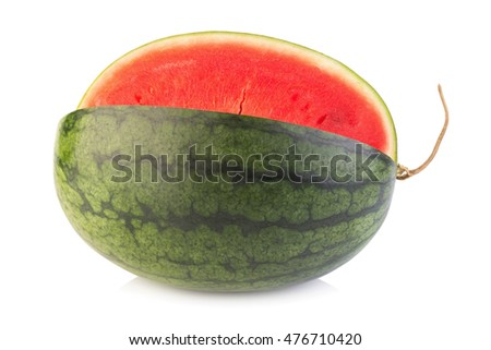 Watermelon on white background.
