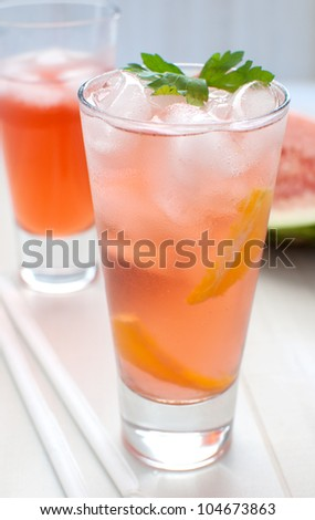 Watermelon punch or lemonade iced