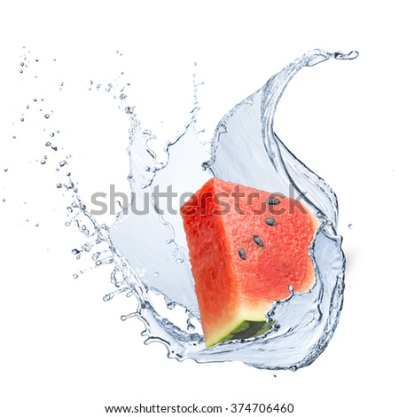 Watermelon With Water Splash