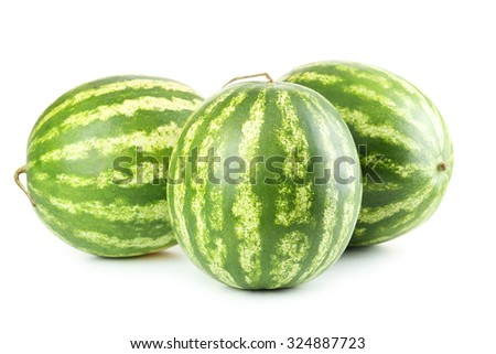 Watermelons isolated on a white