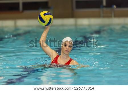Waterpolo girl - stock photo