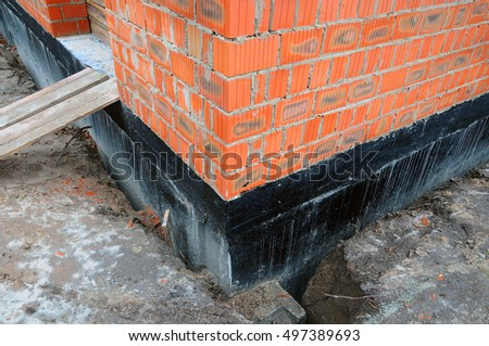 Damp proofing stock images royalty free images vectors for Basement construction methods