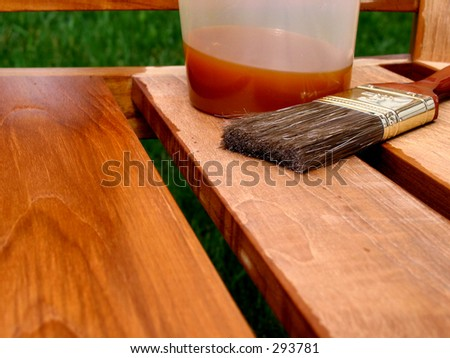 Waterproofing Teak Furniture - stock photo