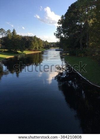 Waterway from Port Orleans Resort to Disney Springs, Walt Disney World.