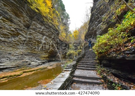Watkins Glen State Park in New York, USA - stock photo