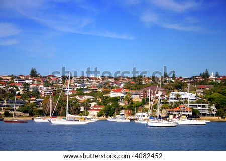 Watsons Bay is a harbourside, eastern suburb of Sydney, in the state of New South Wales, Australia - stock photo