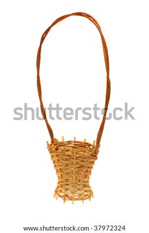 Wattled decorative basket it is isolated on the white