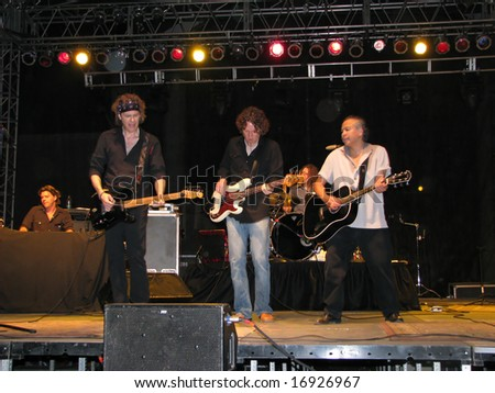 "Waukesha,Wisconsin August 31: The Bodeans played before a hometown crowd on August 31,2008 to close the ""Weekend in Waukesha"" celebration, in conjunction with the Harley 105th Anniversary."
