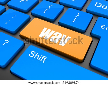 wav word on keyboard button - stock photo