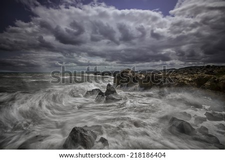 wave - stock photo