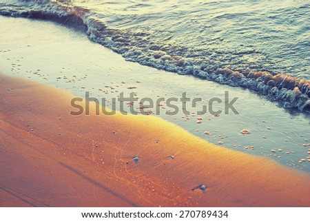 wave and sun rays - stock photo