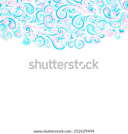 Wave background,  illustration - stock photo