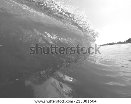 Wave Breaking - Rip Curl - Black and White