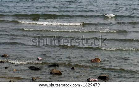 Wave Breaks - stock photo