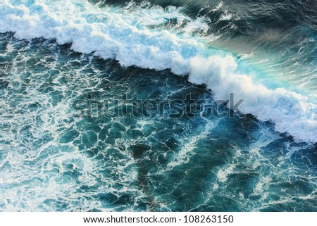 wave in sea - stock photo