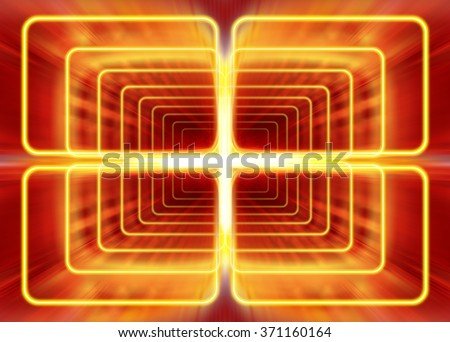 wave mode of electromagnetic radiation, abstract background - stock photo