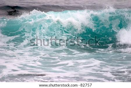 Wave near Carmel, CA - stock photo