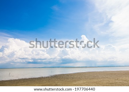 Wave of the sea on the sand beach, nature background - stock photo