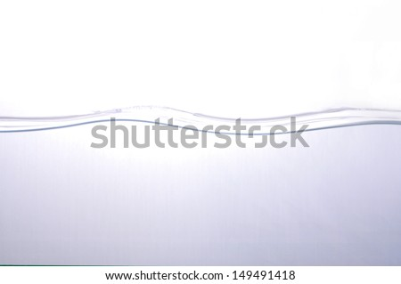 wave of Water on white background,