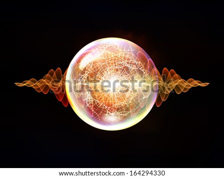 Wave Particle series. Abstract design made of fractal spherical patterns and conceptual elements on the subject of science, technology, spirituality and design