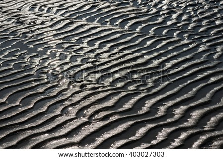 Wave pattern background texture of sand