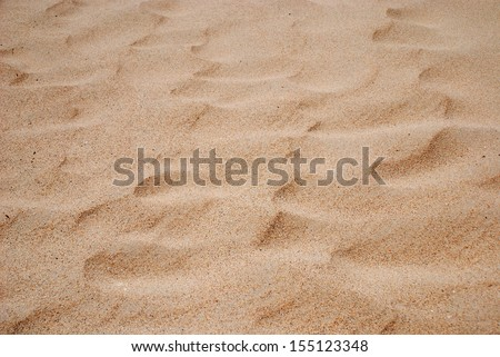 Wave patterns are made with wind on the sand surface of Tarifa coast.