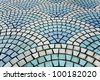 wave tile - stock photo