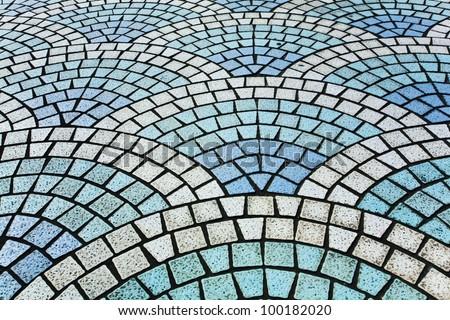 wave tile - stock photo