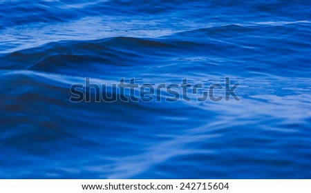 Wave  water surface of the sea - stock photo