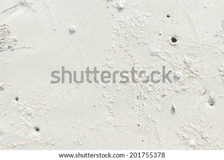 Wave white  beach sand textured background - stock photo