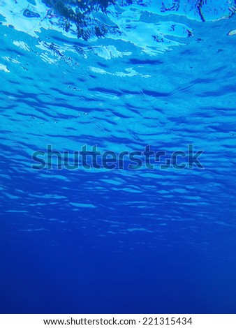 waves in a pool - stock photo