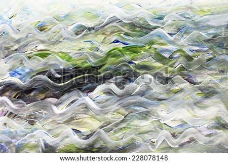 Waves lines, Creative background or Sea background, Waves illustration , Waves background - stock photo