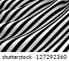 Waves on black-and-white cloth - stock vector