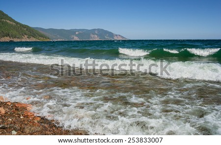 Waves on Lake Baikal