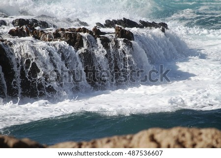 Waves on the rocks - 0136836
