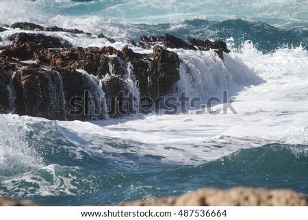 Waves on the rocks - 0136838