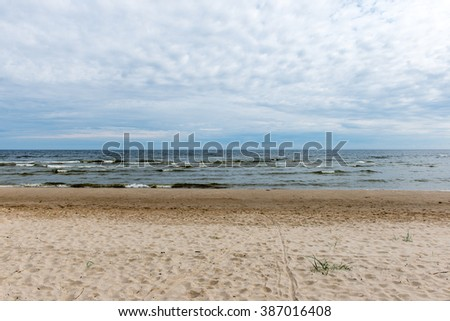 waves on the shore of the Baltic sea beach