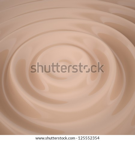 Waves on the surface of the chocolate. 3d render