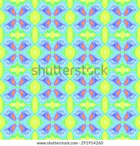 Waves swirls geometric abstract bright cartoon butterfly wings ornament background - stock photo