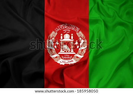 Waving Afghanistan Flag - stock photo