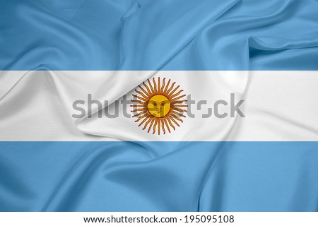 Waving Argentina Flag - stock photo