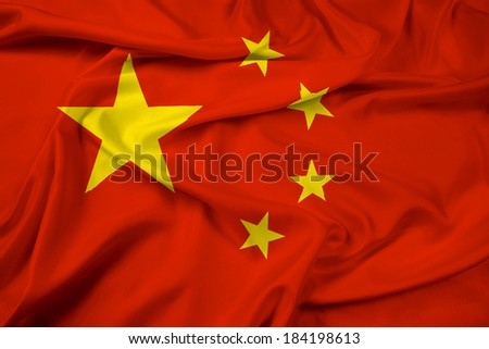 Waving China Flag