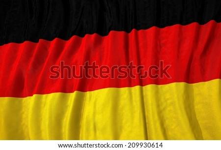Waving close up germany Flag - stock photo