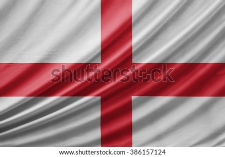 Waving England Flag - stock photo