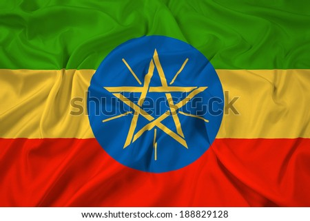 Waving Ethiopia Flag - stock photo