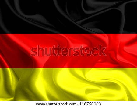 Waving Fabric Flag of Germany