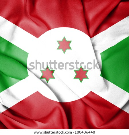 Waving Flag of Burundi - stock photo