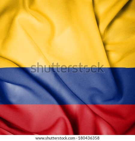 Waving Flag of Colombia - stock photo