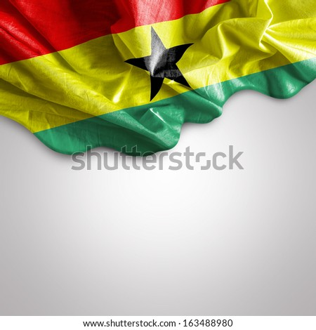 Waving flag of Ghana, Africa - stock photo